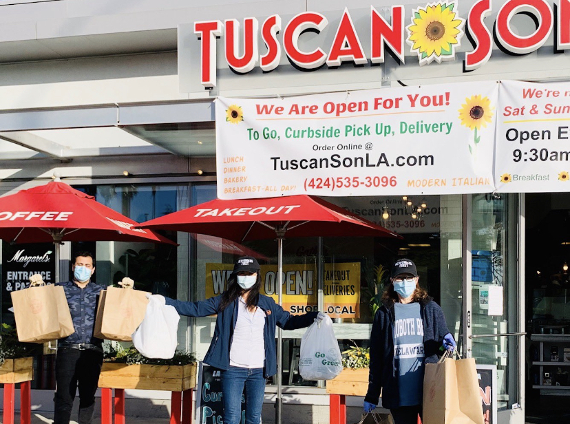 4/23/20 – FOWLA donates 50 meals from Tuscan Son to UCLA