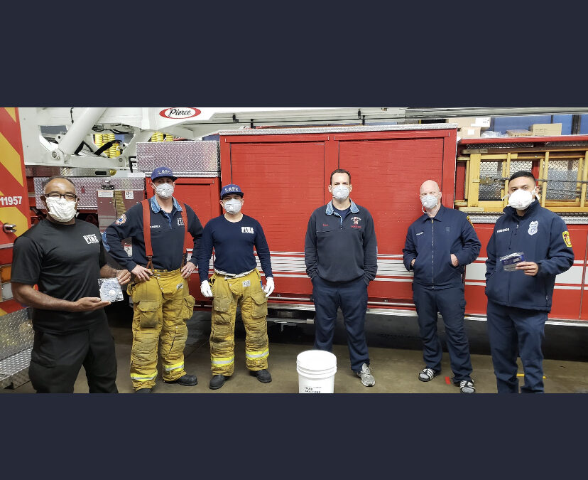 4/9/20 – FOWLA donates N95 Respirators to Firestation 92